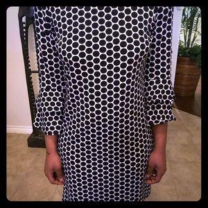 Black-and-white Tacera dress